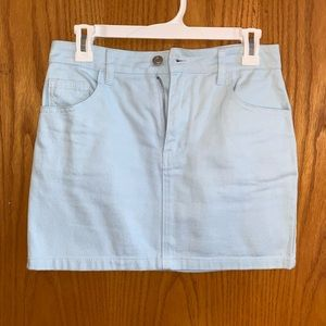 Pastel Denim Mini Skirt
